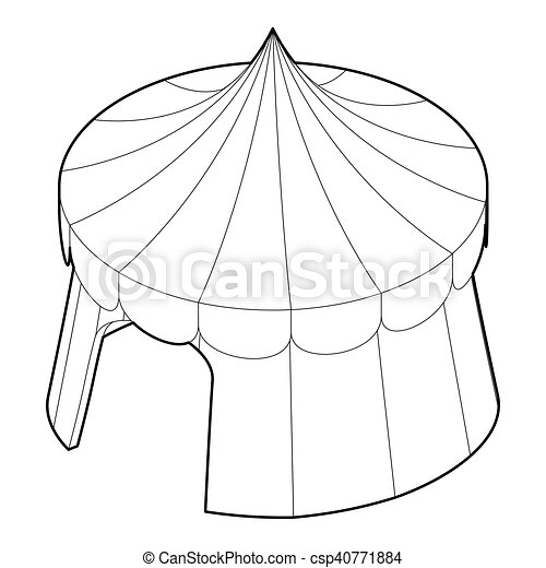 Circus Tent Icon Outline Style Vector  sc 1 st  Can Stock Photo & Circus tent icon outline style. Circus tent icon. outline ...