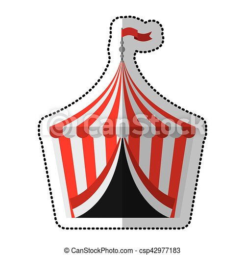 Circus Tent Isolated Icon Vector  sc 1 st  Can Stock Photo & Circus tent isolated icon vector illustration design vector ...