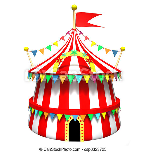 Circus Tent Stock Illustration  sc 1 st  Can Stock Photo & Circus tent on a white background stock illustrations - Search ...