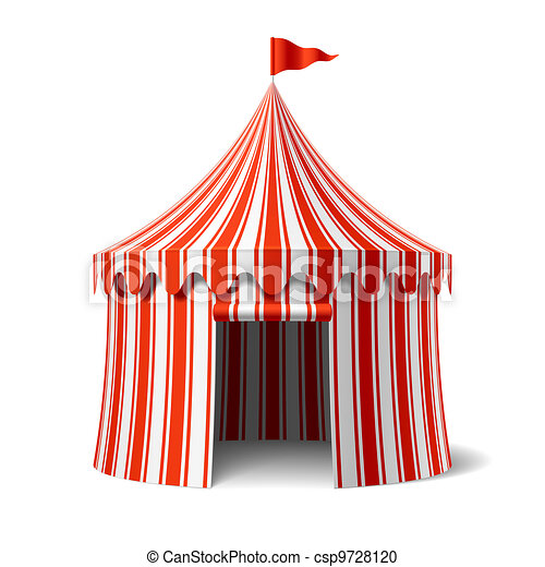 Circus Tent Vector  sc 1 st  Can Stock Photo & Circus tent vector illustration vector clipart - Search ...