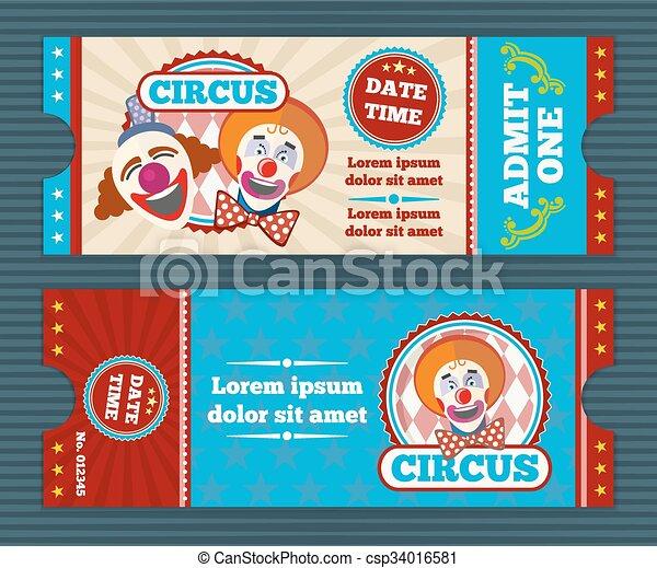 Circus ticket vector template - csp34016581