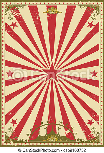 Circus Vintage A Retro Background For Your Show Vector