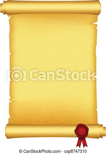 cire, rouleau, rouges, cachet - csp8747310