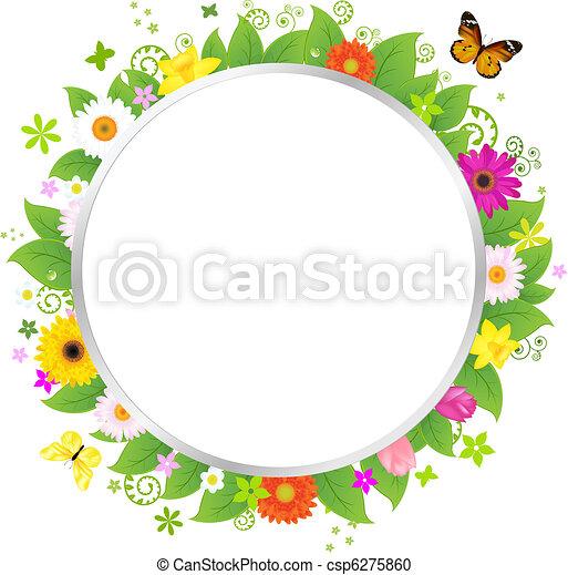 cirkel, bloemen - csp6275860