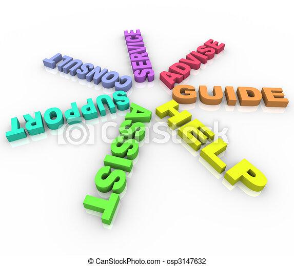 cirkel, -, helpen, woorden, gekleurde - csp3147632