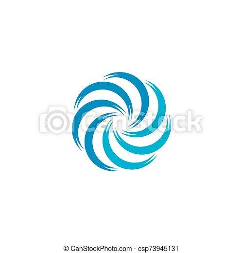 cirkel, ikon, abstrakt, vektor, logo, illustration, mall - csp73945131