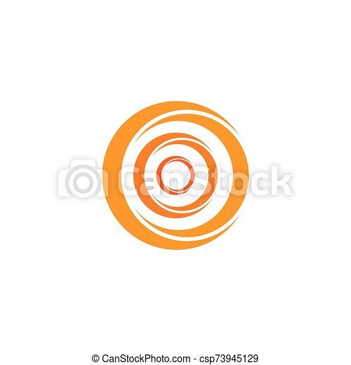cirkel, ikon, abstrakt, vektor, logo, illustration, mall - csp73945129
