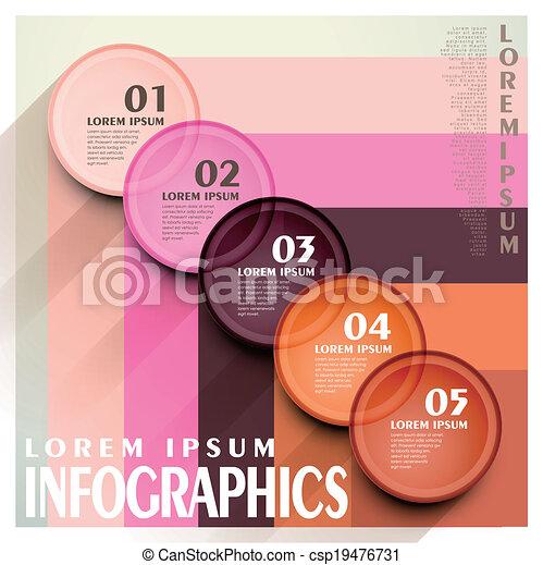 cirkel, infographic, communie, etiket - csp19476731