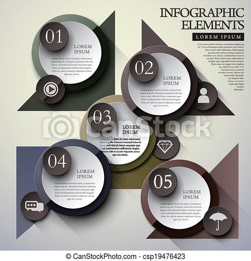 cirkel, infographic, communie, etiket - csp19476423
