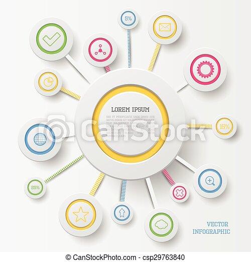 cirkel, infographic - csp29763840