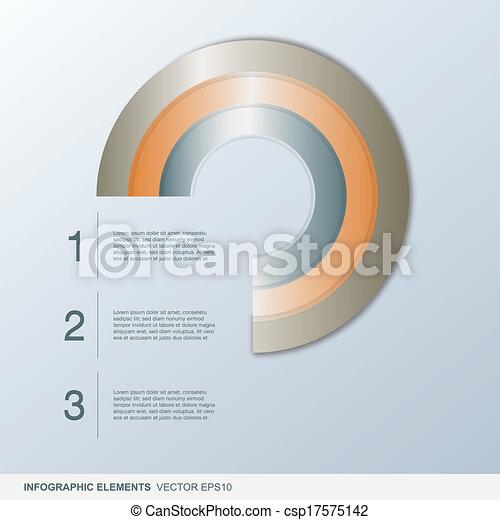 cirkel, infographic, kleurrijke, communie - csp17575142