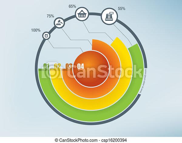 cirkel, infographics - csp16200394