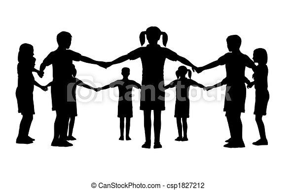 cirkel, kinderen - csp1827212