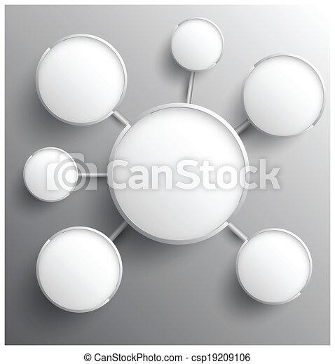 cirkel, moderne, groep, relationship. - csp19209106