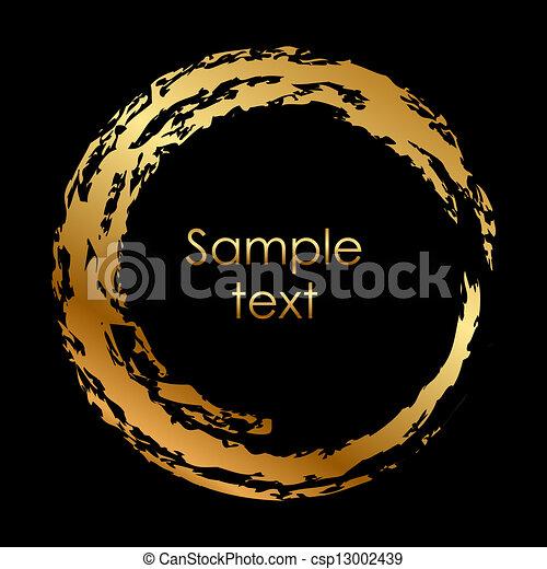cirkel, vector, goud - csp13002439