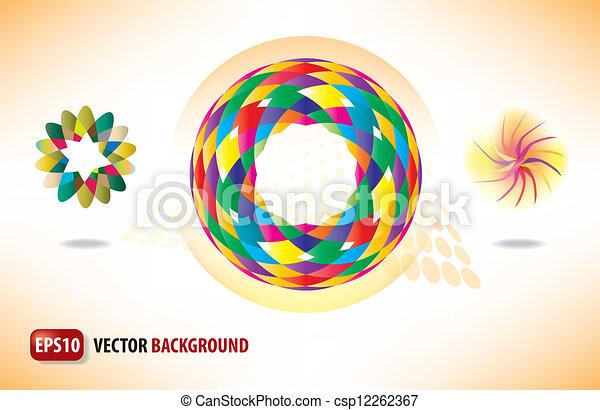 cirkels, abstract, achtergrond - csp12262367