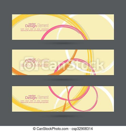 cirkels, abstract, achtergrond kleurde - csp32908314