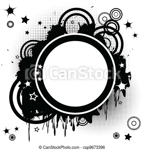 cirkels, abstract, funky, achtergrond - csp9673396