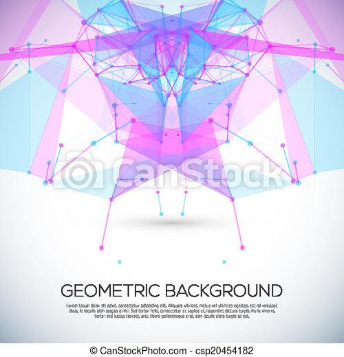 cirkels, abstract, lijnen, geometrisch, achtergrond - csp20454182