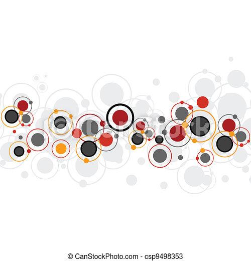 cirkels, achtergrond kleurde - csp9498353