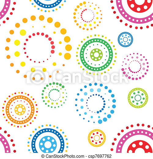 cirklarna, mönster, seamless - csp7697762