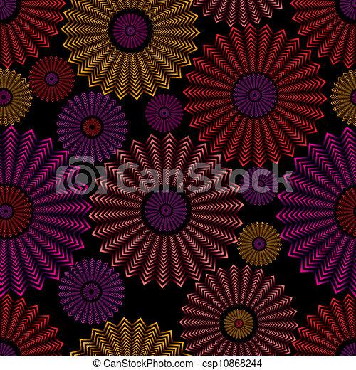 cirklarna, pattern., seamless, utsirad - csp10868244