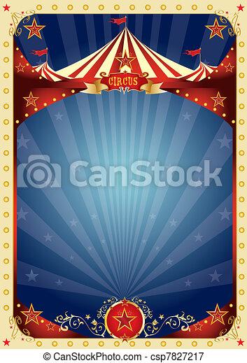 cirque, amusement, affiche - csp7827217