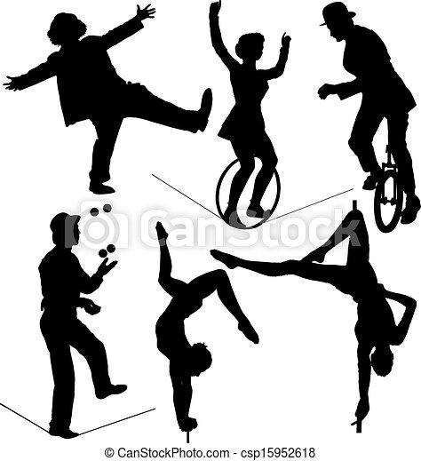 cirque, artiste - csp15952618