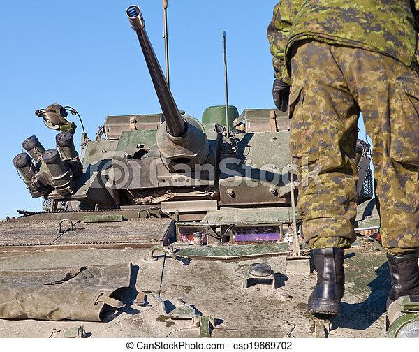 cistern, drev, strid, soldat, militär, pansrad - csp19669702