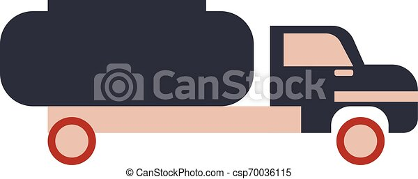 Cistern truck flat illustration on white - csp70036115