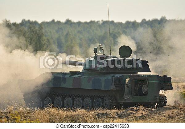 cisterna, -, válečný - csp22415633