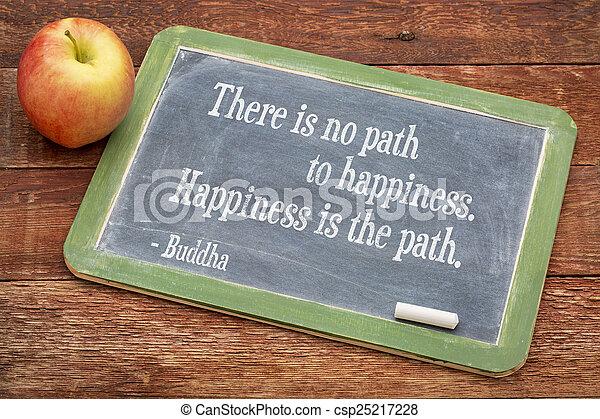 citação, buddha, felicidade - csp25217228