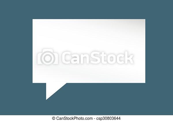 citação, desenho, modelo, em branco, bolha, vazio - csp30803644