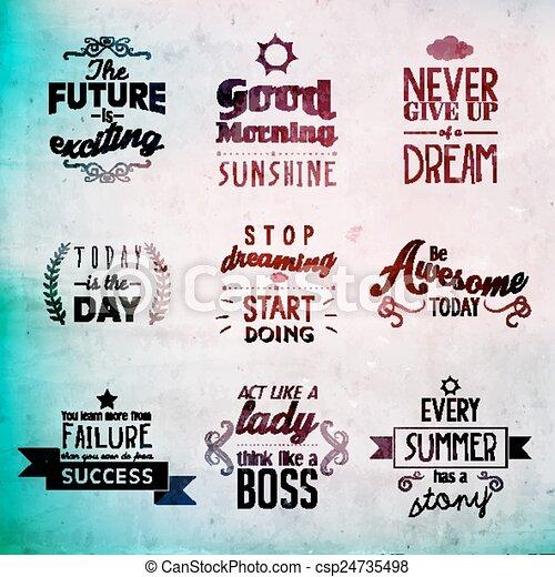citação, encorajando, inspirational - csp24735498