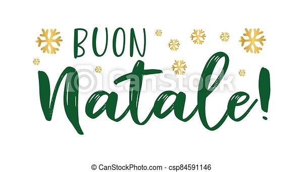cita, buon, navidad., translated, logotipo, header., invitation., natale, italiano, tarjeta, alegre, cartel, letras, celebración, o - csp84591146