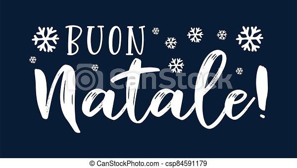 cita, buon, navidad., translated, logotipo, header., invitation., natale, italiano, tarjeta, alegre, cartel, letras, celebración, o - csp84591179