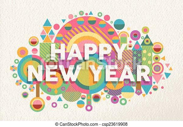 Feliz año nuevo 2015 de ilustraciones - csp23619908