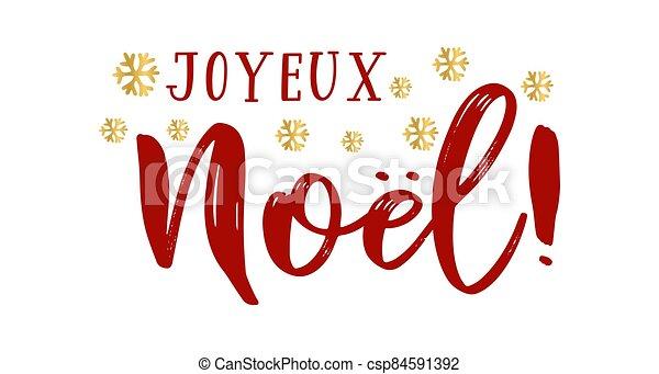 cita, celebración, letras, noel, joyeux, translated, o, invitation., cartel, logotipo, francés, tarjeta, alegre, header., navidad. - csp84591392