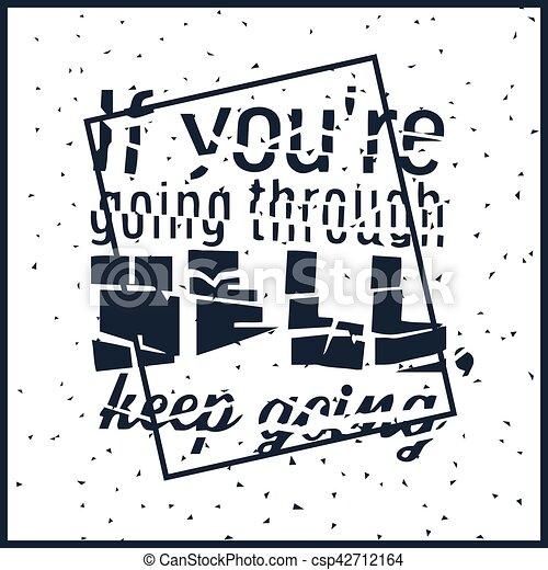 Una fuerte cita de motivación - csp42712164
