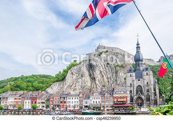 Citadel of Dinant in Belgium - csp46239950