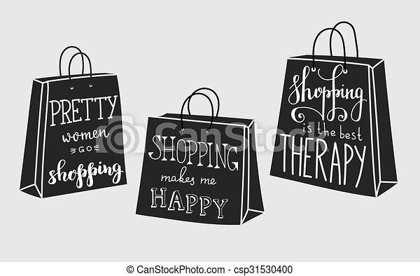 Citaten Noteren : Citaten over shoppen lettering happy gaan best design