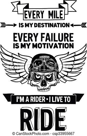 citation, motivation, vecteur, motard, locution - csp33955667