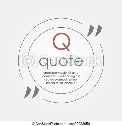 citation text box frame for decoration quote and other information
