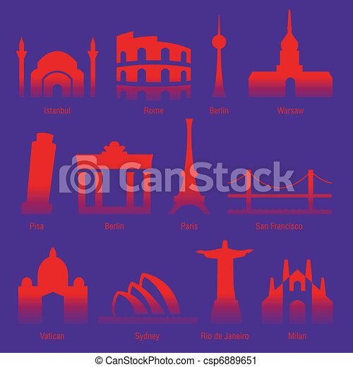 cities of the world  - csp6889651