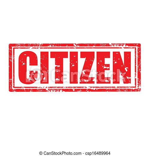 citizen-stamp - csp16489964