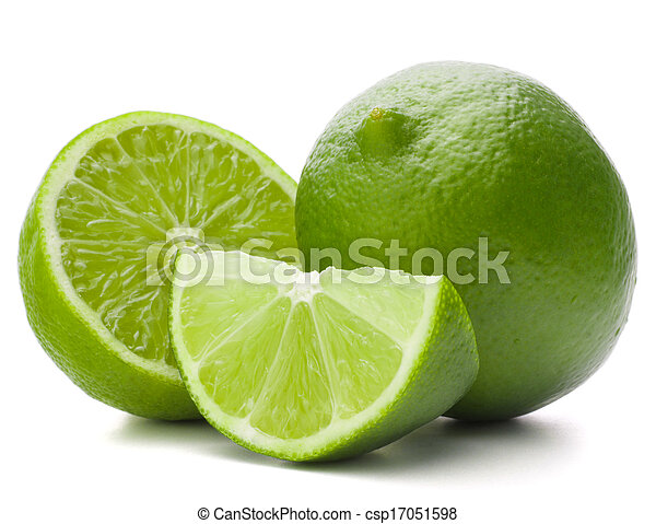 Citrus lime fruit isolated on white background cutout - csp17051598
