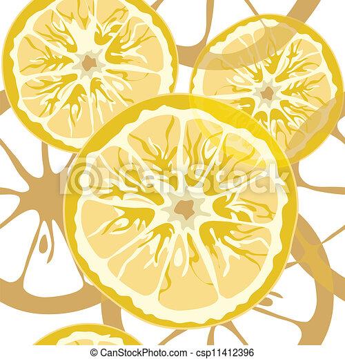 citrus, modèle, seamless - csp11412396