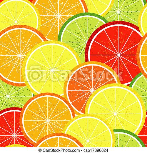 citrus, modèle, seamless - csp17896824