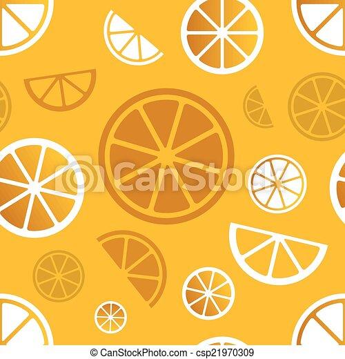 citrus, modèle, vecteur, seamless - csp21970309