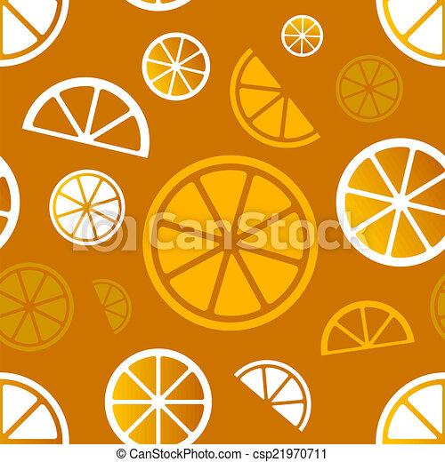 citrus, pattern., vecteur, eps10, seamless - csp21970711